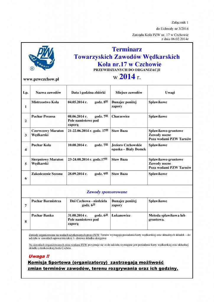 Uchwala 03/2014